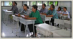 A class of Thai people learning English