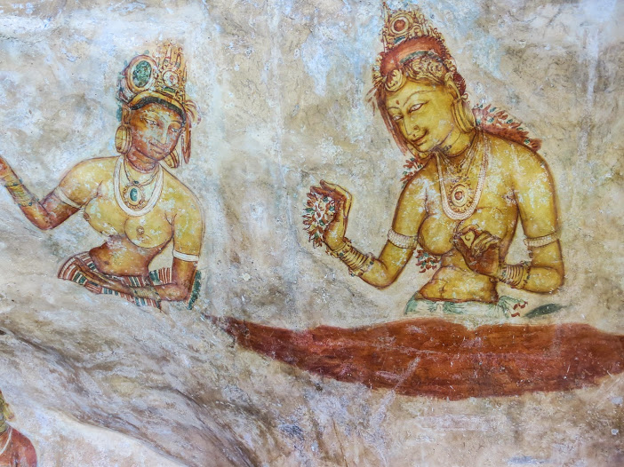 Sigiriya frescoes © Fred Barrington